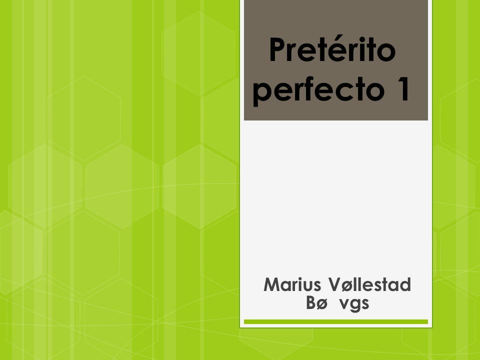 Pretérito perfecto 1 Marius Vøllestad Bø vgs