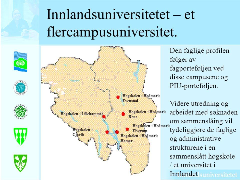 Innlandsuniversitetet – et flercampusuniversitet.