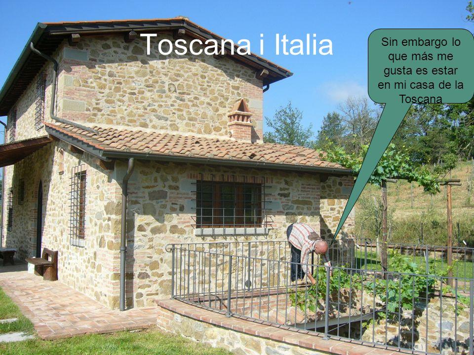 Toscana i Italia Sin embargo lo que más me gusta es estar en mi casa de la Toscana