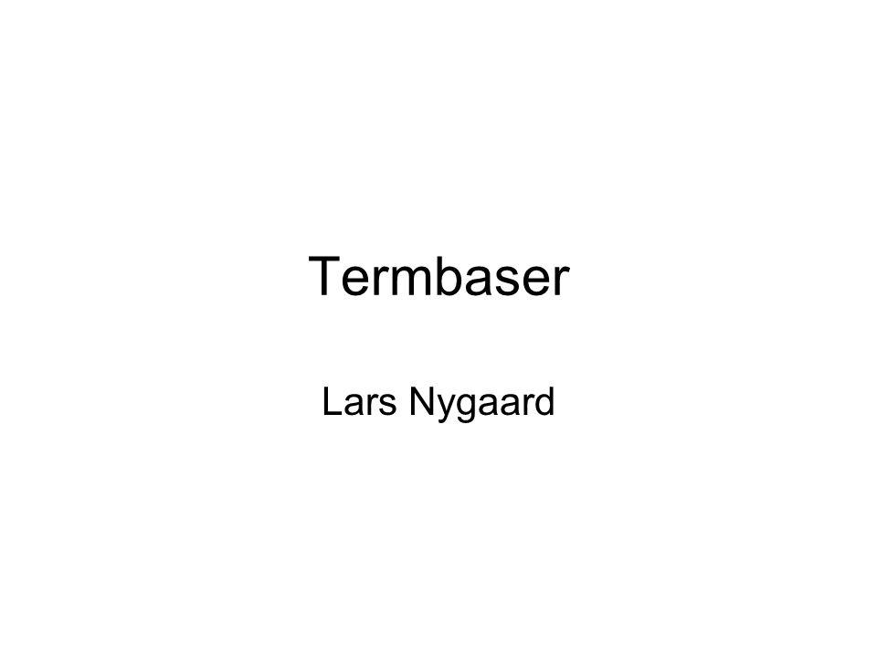 Termbaser Lars Nygaard