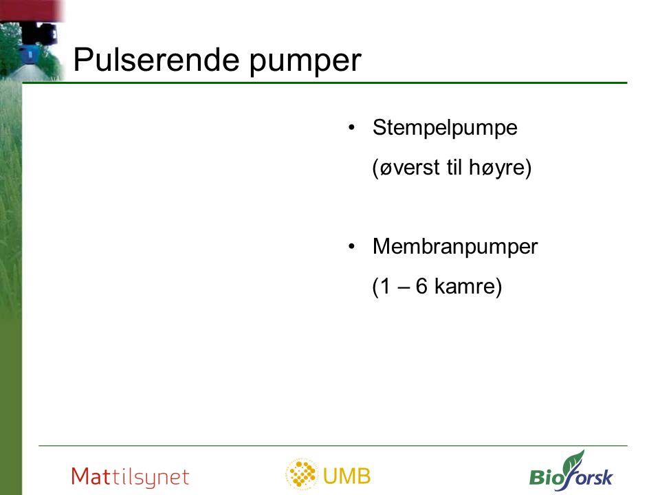 UMB Membranpumpe Sprøytevæska kommer ikke i kontakt med bevegelige deler i pumpa Innsugningsventil Membran Støtstang Veivaksel Foto: Hardi Trykkventil