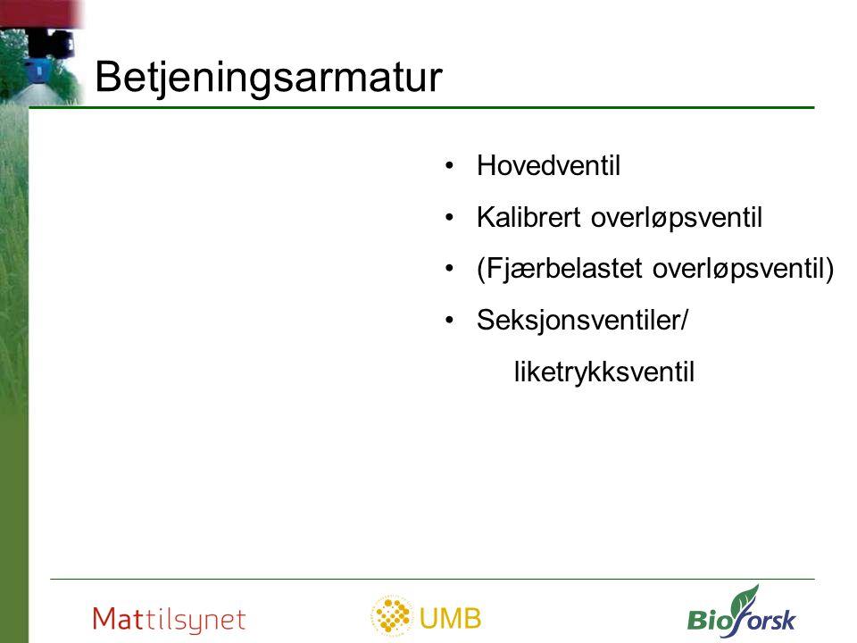 UMB Filter Kilde: Handtering og bruk av plantevernmidler, grunnbok