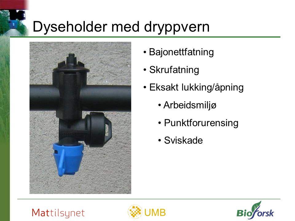 UMB Vanlig skrufatning uten dryppvern Dryppvern og skrufatning Dyseholder