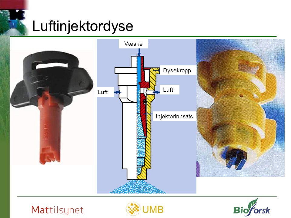 UMB Dyseslitasje Dyseslitasje avdekkes ved Bruk av sjekkliste Ved funksjonstest Foto: Spraying Systems