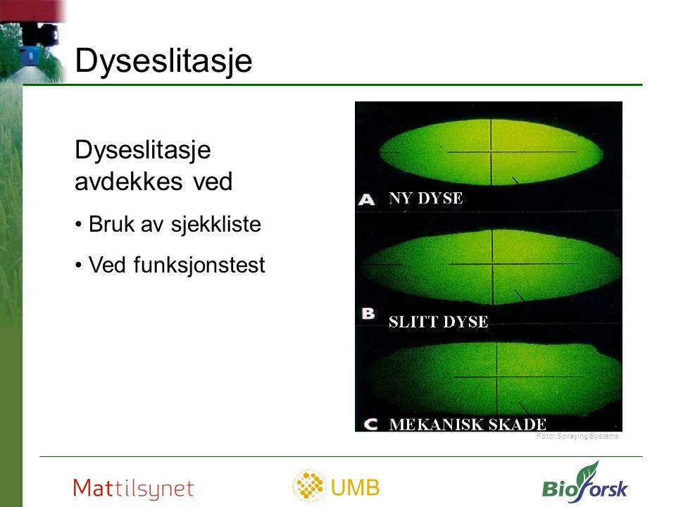 UMB Dyseåpning FØR og ETTER rengjøring Rengjøring Foto: Spraying Systems