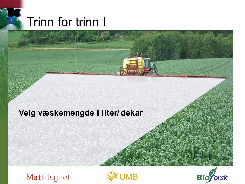UMB Trinn for trinn II Velg dusjkvalitet (dråpestørrelse)