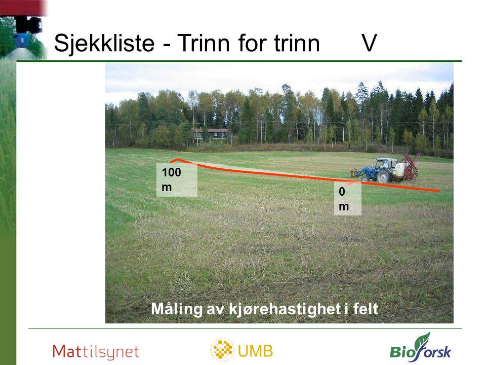 UMB Rengjøring Primært ute på feltet Sprøyt ut over kulturen Grasdekket underlag Punktforurensning?