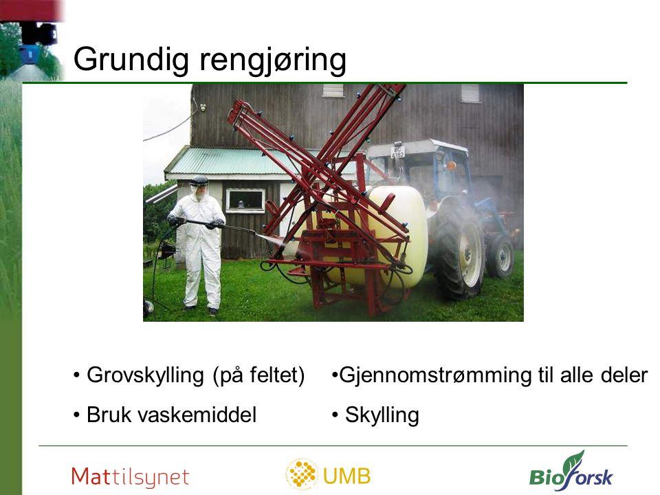 UMB Vedlikehold God rengjøring Lekkasjer utbedres Sjekk dryppvern Beskytt mot rust Smør hendler m.