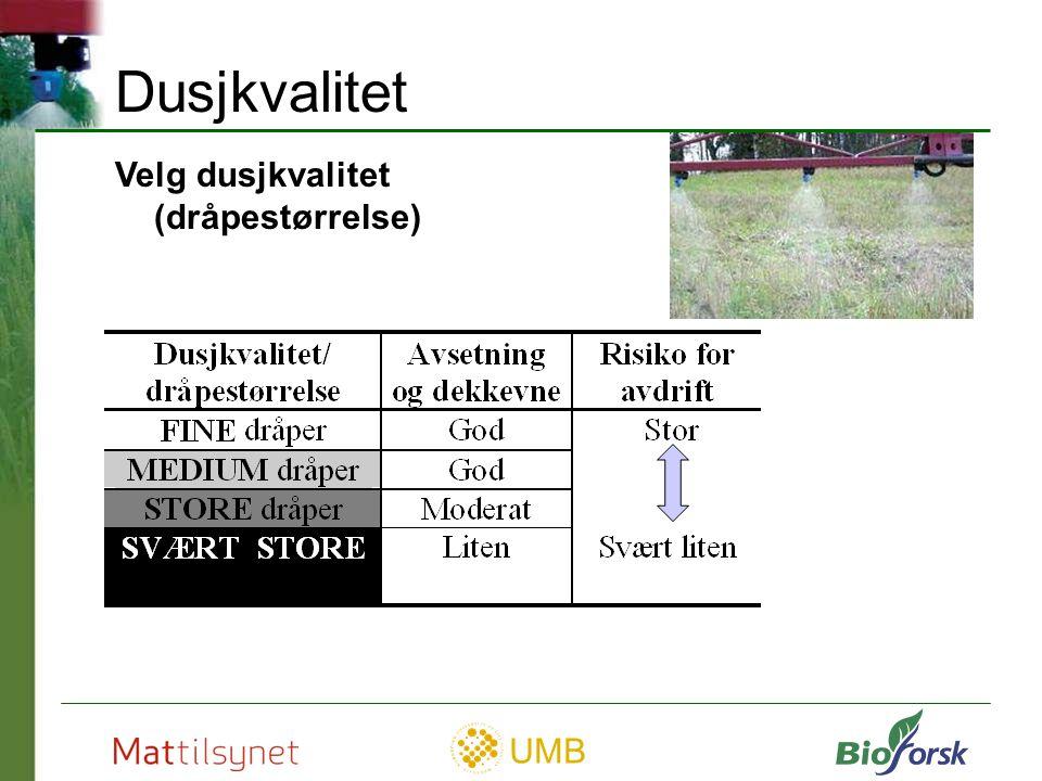 UMB Viktige komponenter i åkersprøyta Kilde: Handtering og bruk av plantevernmidler, grunnbok