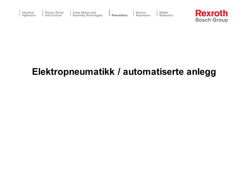 Elektropneumatikk / automatiserte anlegg