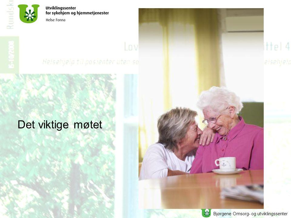 Bjørgene Omsorg- og utviklingssenter Det viktige møtet