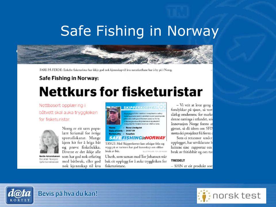 19 Safe Fishing in Norway Prosjekt for utenlandske fiskere – Safe Fishing in Norway –Ingen krav i dag til utenlandske fiskere –Øke kompetansen til fis