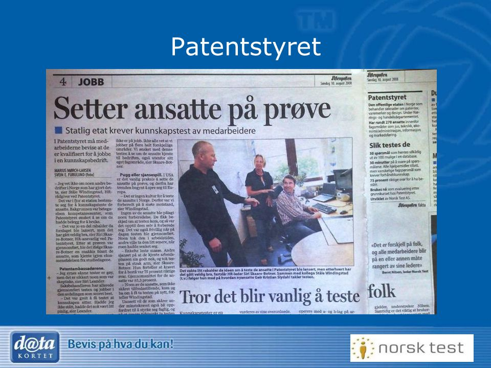 4 Patentstyret