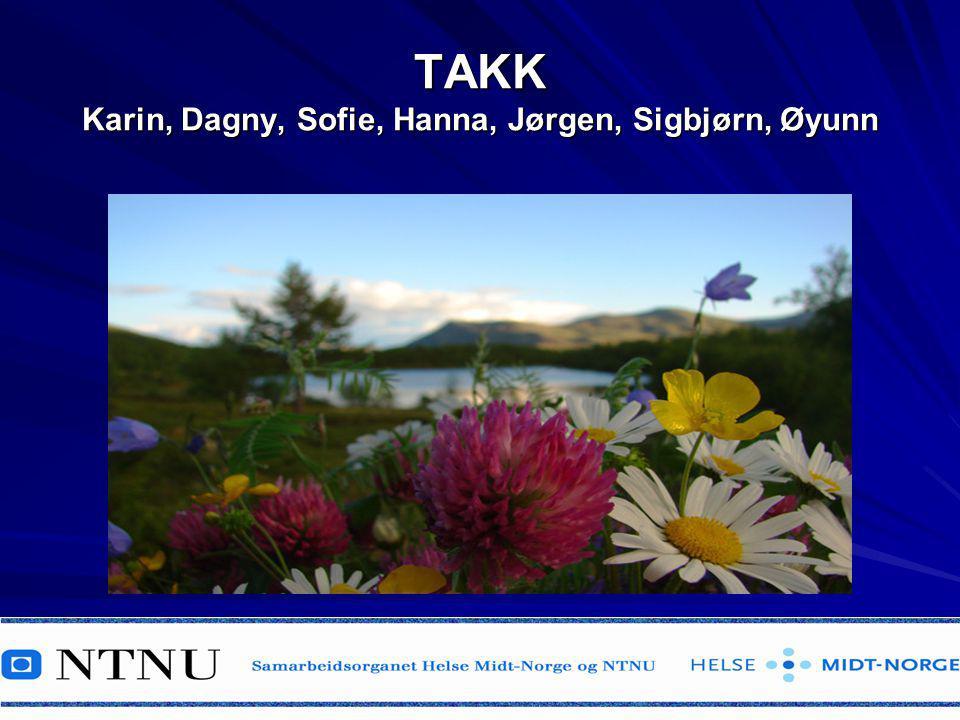 TAKK Karin, Dagny, Sofie, Hanna, Jørgen, Sigbjørn, Øyunn