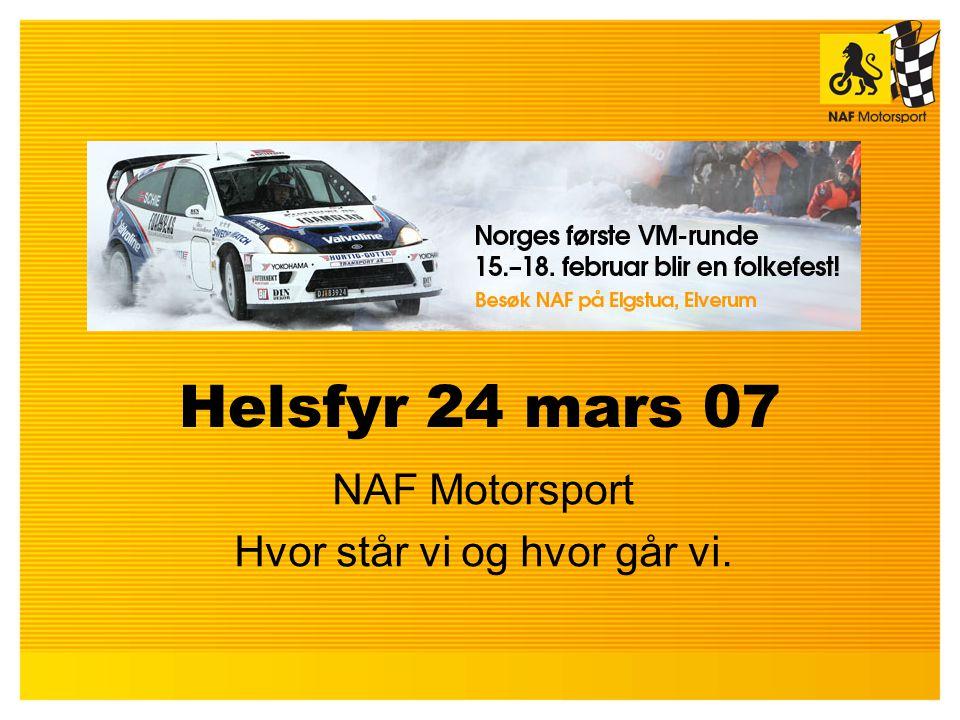 Helsfyr 24 mars 07 NAF Motorsport Hvor står vi og hvor går vi.