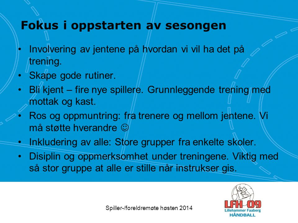 Dugnader Julekalender Baldus Cup Britt er kontaktperson Spiller-/foreldremøte høsten 2014