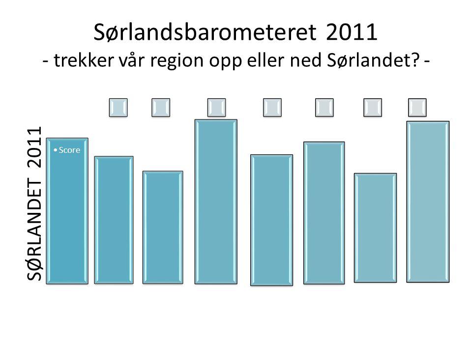Sørlandsbarometeret 2011 - trekker vår region opp eller ned Sørlandet - SØRLANDET 2011 Score
