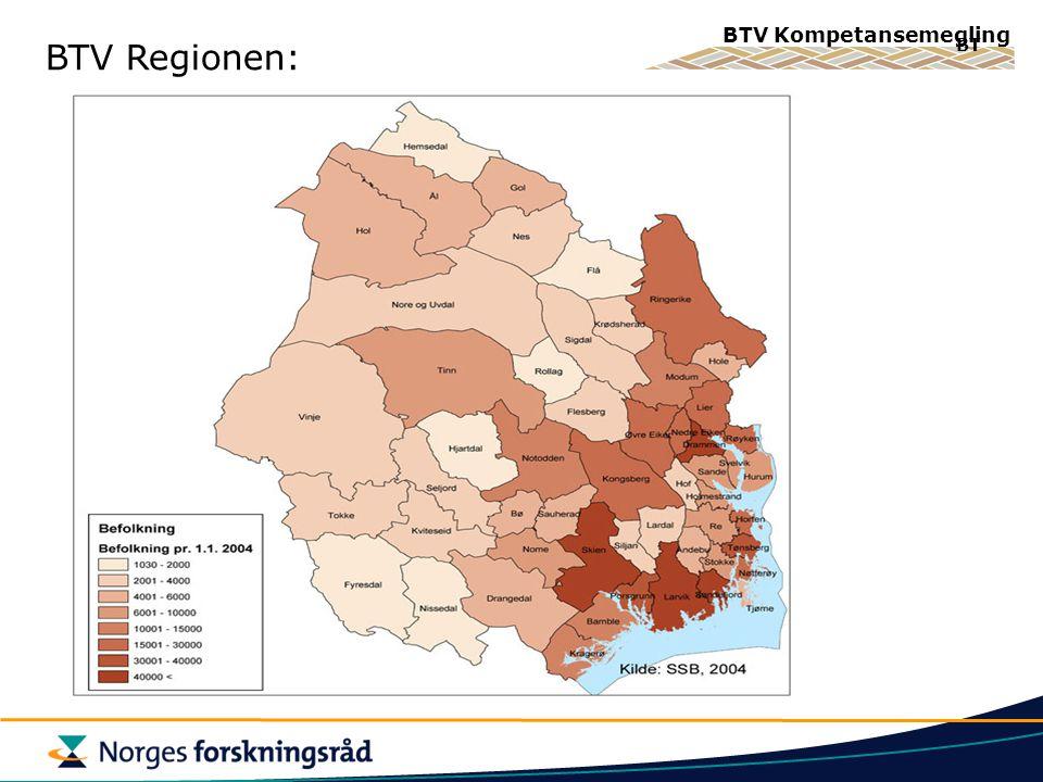 BTV Kompetansemegling BT BTV Regionen: