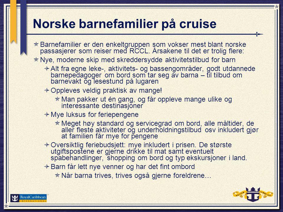 Litt fakta om barn på cruiset 3.10.2009  På cruiset 3.