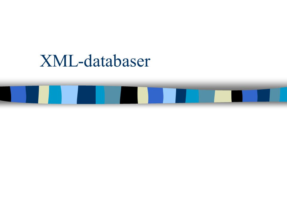 XML-databaser