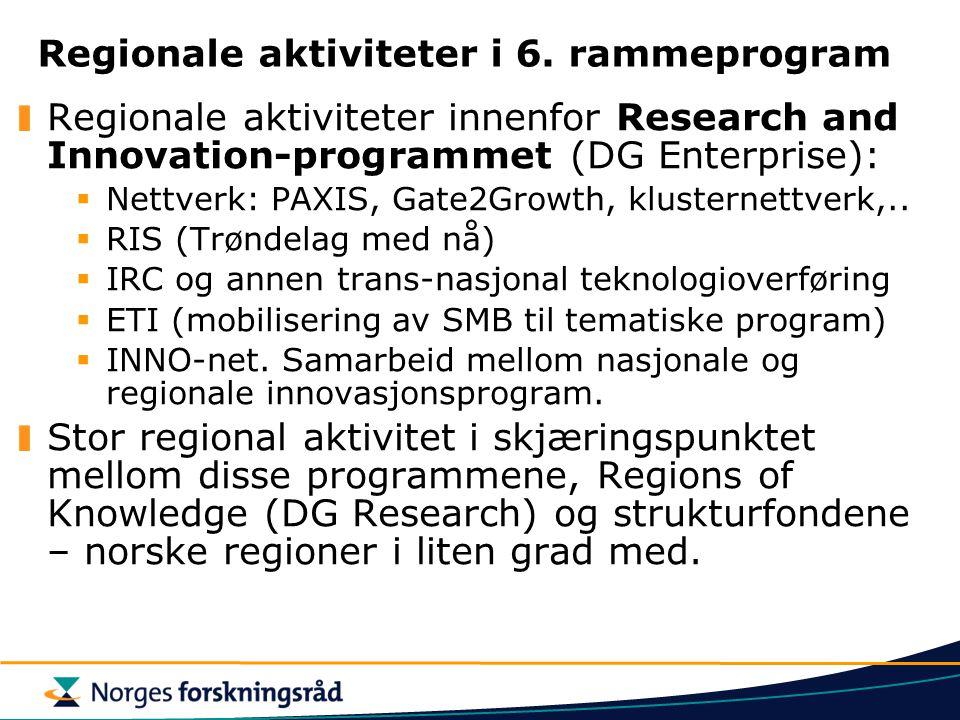 Regionale aktiviteter i 6.