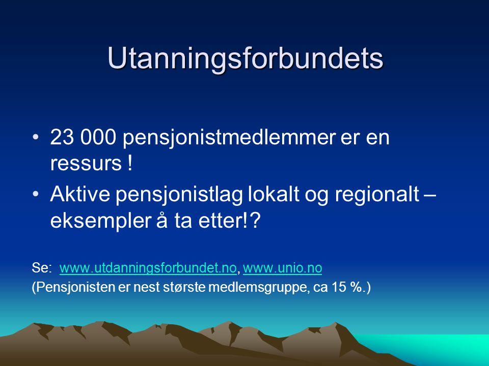 Utanningsforbundets 23 000 pensjonistmedlemmer er en ressurs .