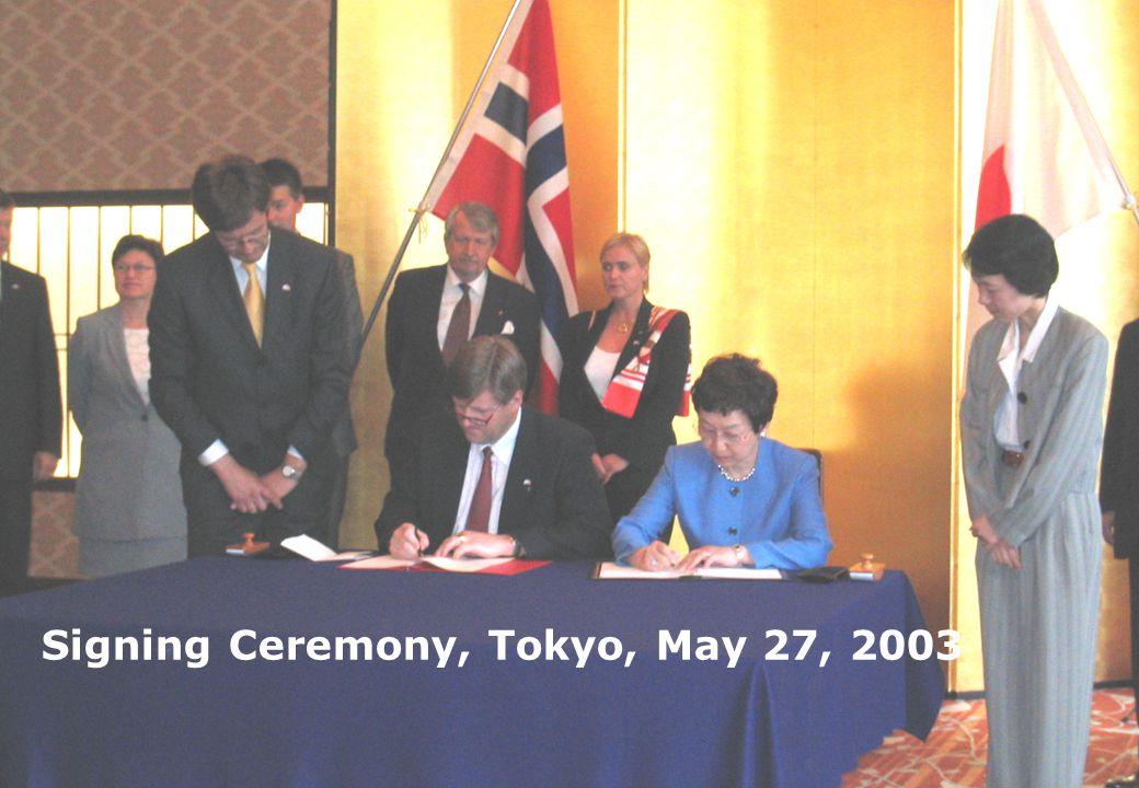 3 Signing Ceremony, Tokyo, May 27, 2003