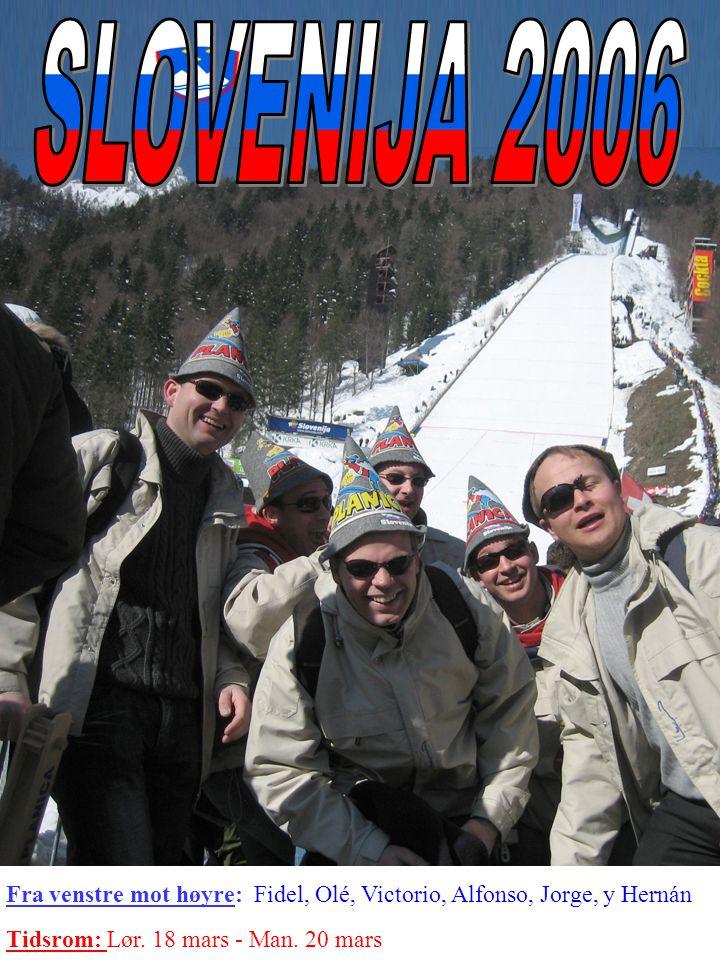 Fra venstre mot høyre: Fidel, Olé, Victorio, Alfonso, Jorge, y Hernán Tidsrom: Lør.