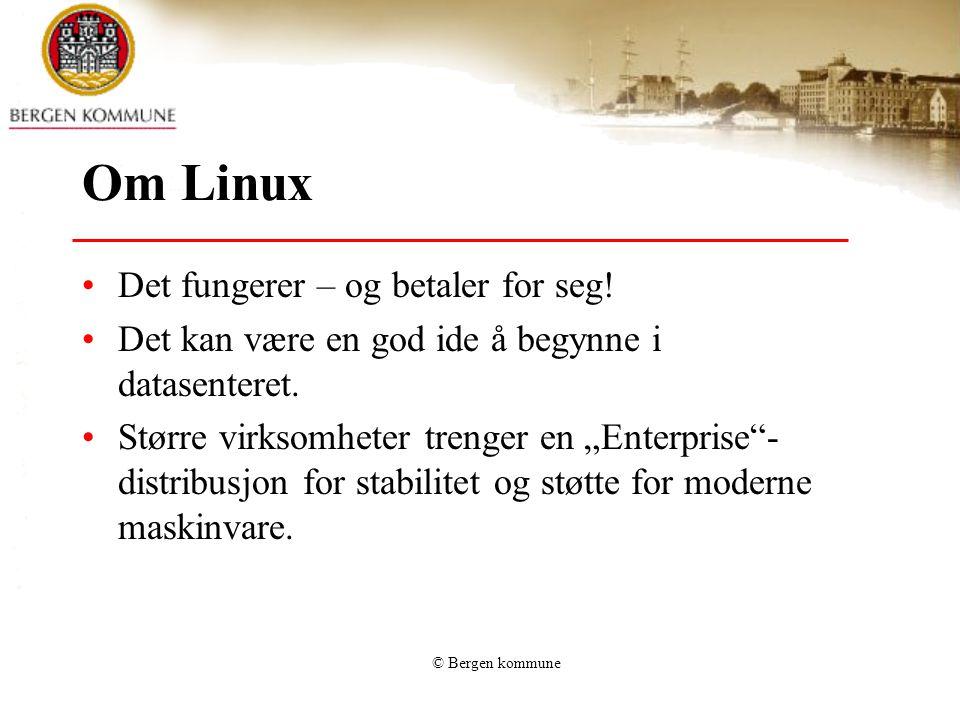 Om Linux Det fungerer – og betaler for seg.Det kan være en god ide å begynne i datasenteret.