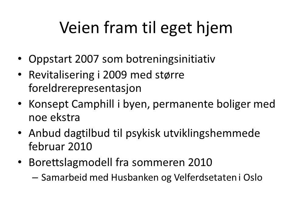 Veien fram til eget hjem Hele foreldregruppen på Ljabruskolen invitert – Opp til 16 interessenter Vurderte 50 eiendommer i perioden mars 2010 til november 2011 Nordre Ammerud Gård annonsert 22.