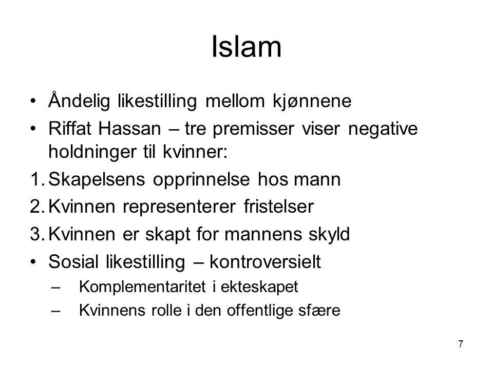 Islam i vestlige land Kvinner ikke imamer – teologi eller tradisjon.