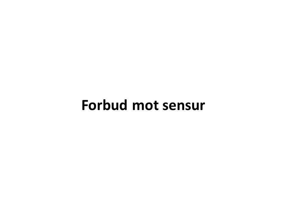 Forbud mot sensur