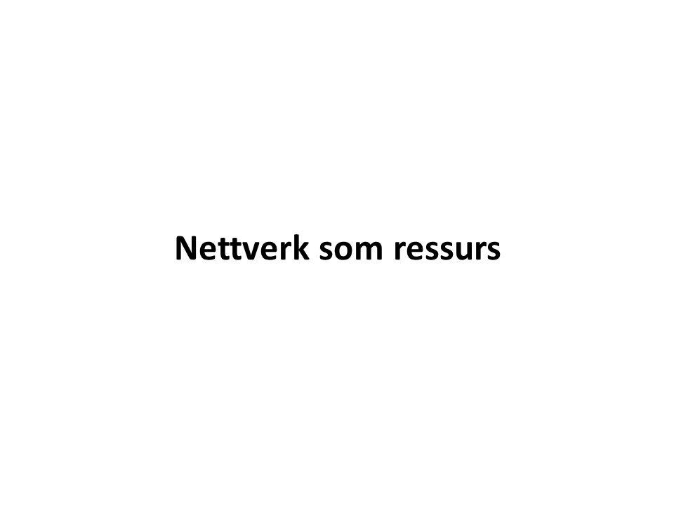 Nettverk som ressurs