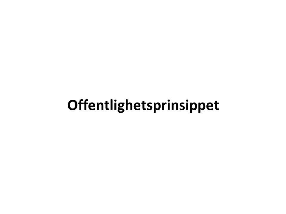 Offentlighetsprinsippet