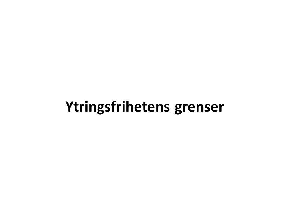 Status for ytringsfrihet i Norge – og Peter Handke