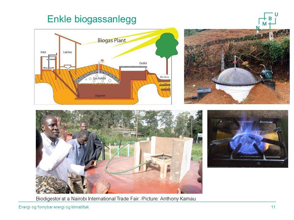 Enkle biogassanlegg Biodigestor at a Nairobi International Trade Fair. /Picture: Anthony Kamau Energi og fornybar energi og klimatiltak11