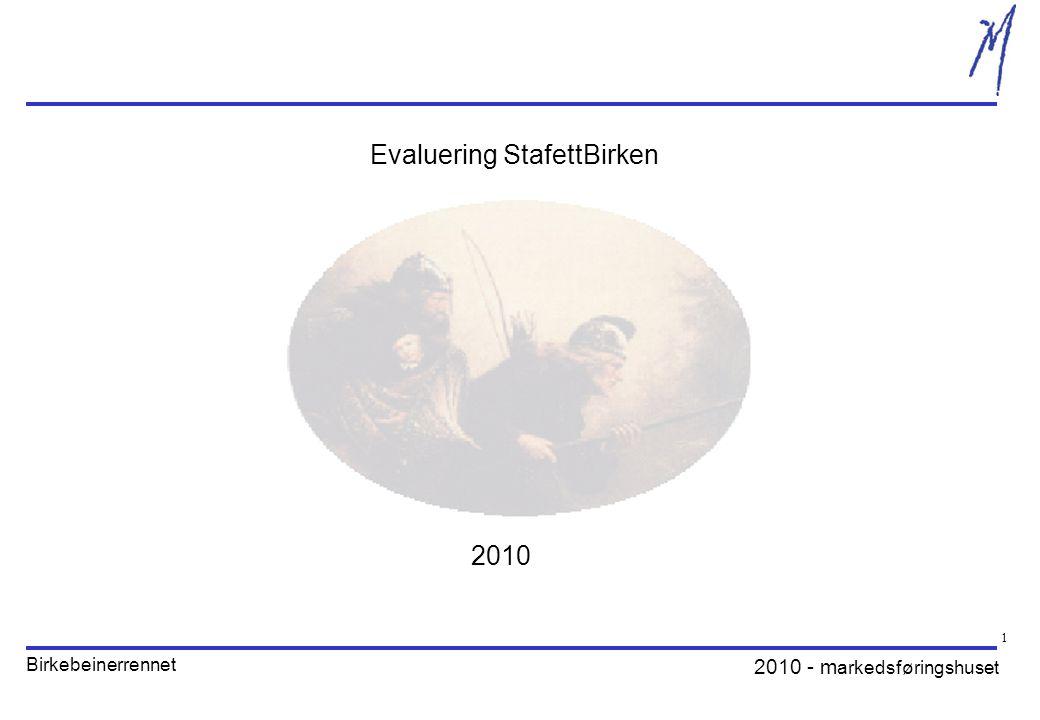 2010 - m arkedsføringshuset Birkebeinerrennet 1 Evaluering StafettBirken 2010