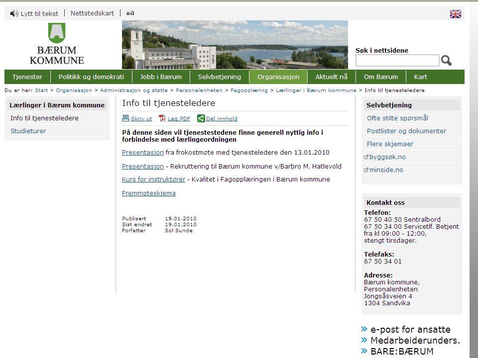Personalenheten - fagopplæring 29.10.201015 Møte på opplæringssted 5.Planlegging av fagprøve –Tid for avvikling –Kontaktperson –Hvordan gjennomføres –