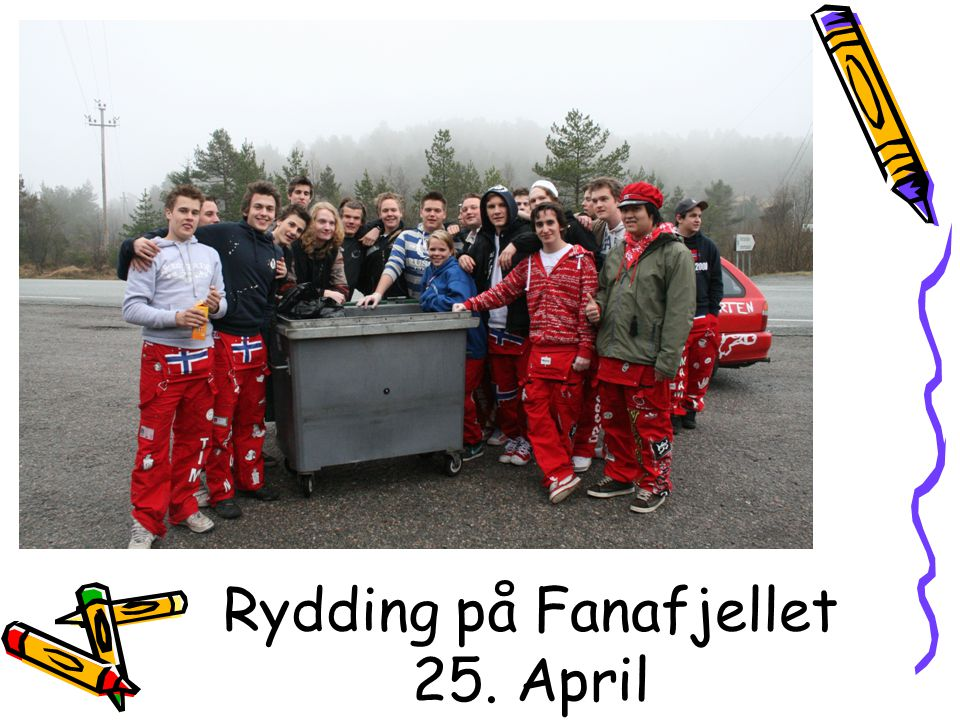 Rydding på Fanafjellet 25. April