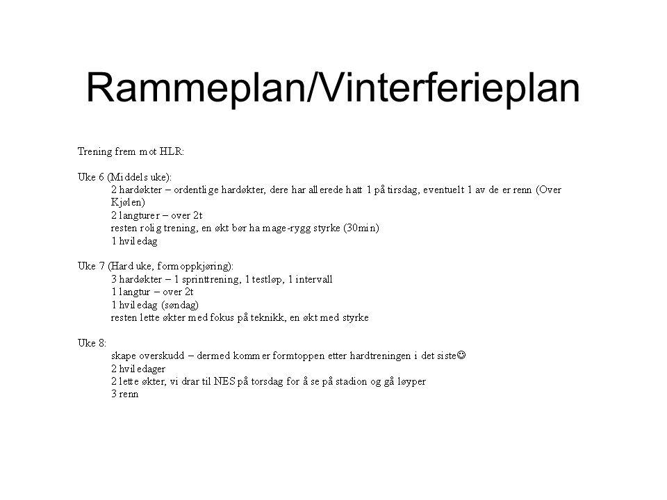 Rammeplan/Vinterferieplan