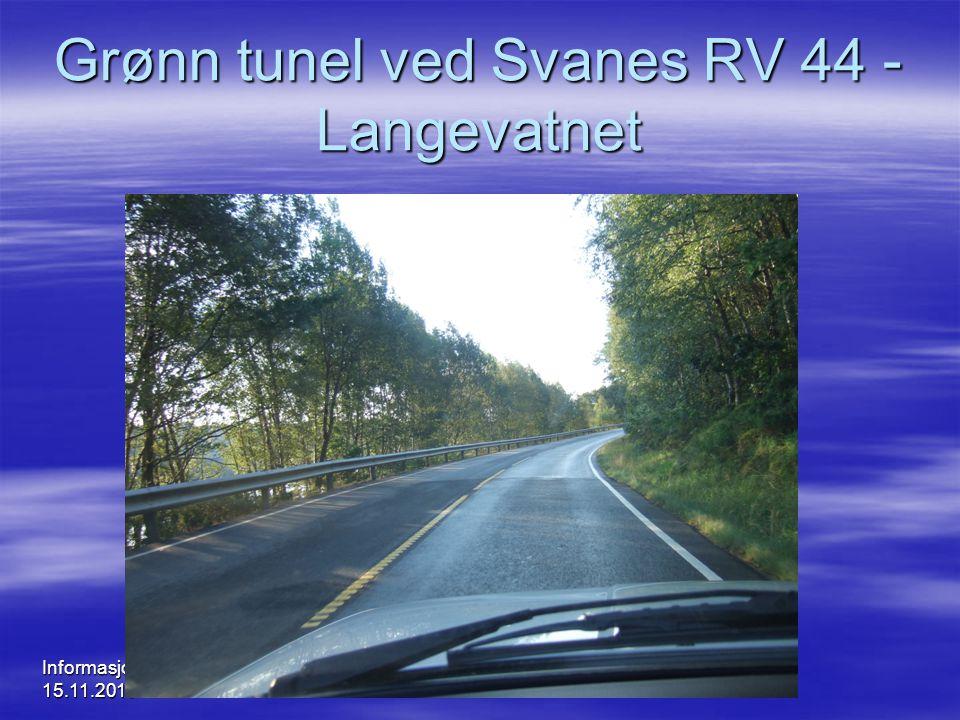 Informasjonsmøte 15.11.2010 Grønn tunel ved Svanes RV 44 - Langevatnet