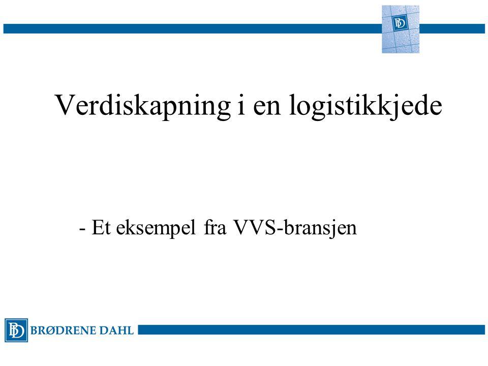 Verdiskapning i en logistikkjede - Et eksempel fra VVS-bransjen