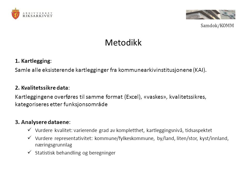 Metodikk 1.