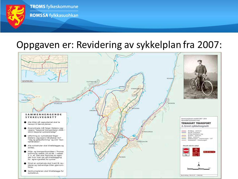Arbeidsgruppas mandat: Fremlegge forslag til gode sykkelløsninger for byområdet som skal inn i kommuneplanens arealdel - Foreslå hovednett for sykkel for Tromsø - Høg kvalitet.