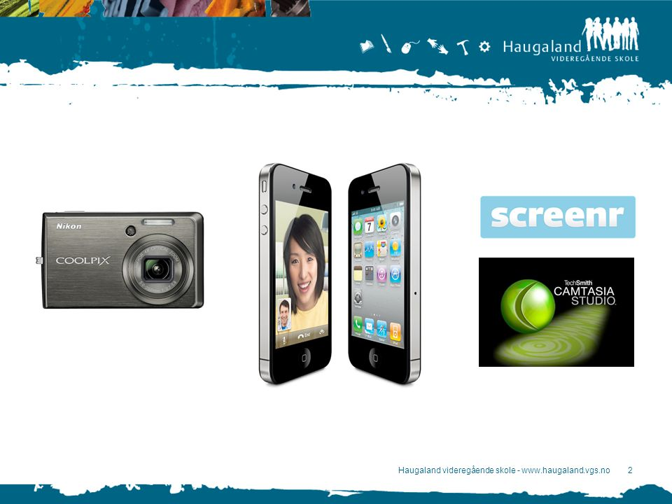 3 Kamera: Filming –Stillbilder –Film-modus Produksjon –Photostory 3 (stillbilder Windows) –Animoto.comAnimoto.com –Movie Maker (Windows) –iMovie (Mac) http://vimeo.com/19023862