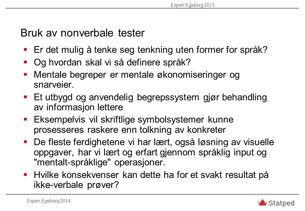 Cummins (1984) hevder at testing av non-verbale evner kan gi mindre treffende vurderinger ift.