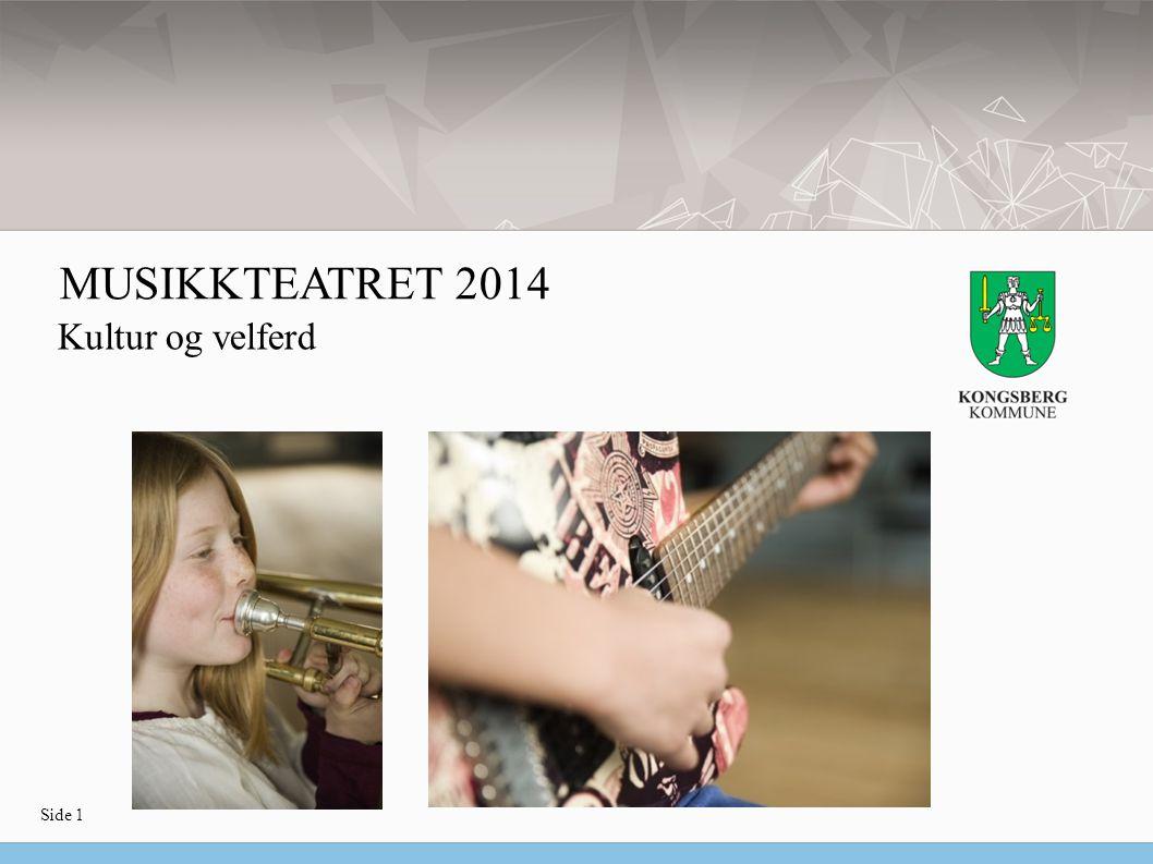 Side 1 Kultur og velferd MUSIKKTEATRET 2014