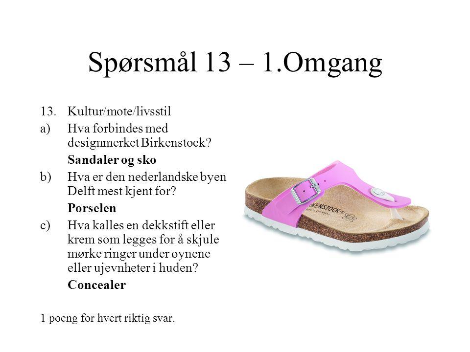 Spørsmål 12 – 1.Omgang 12.Kommunevåpen a)Hvilken kommune.