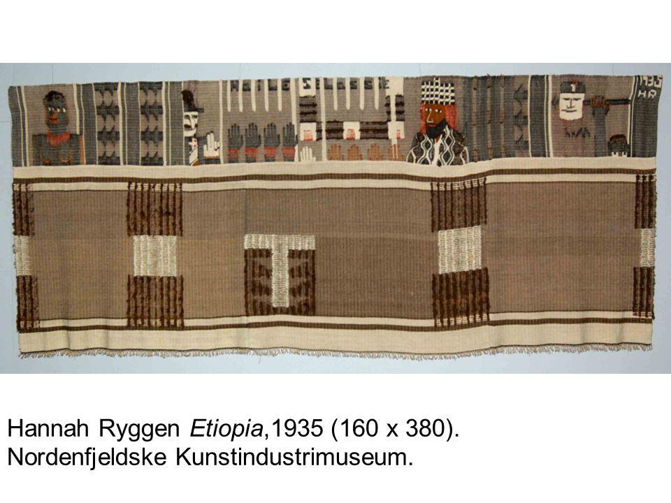 Hannah Ryggen Etiopia,1935 (160 x 380). Nordenfjeldske Kunstindustrimuseum.