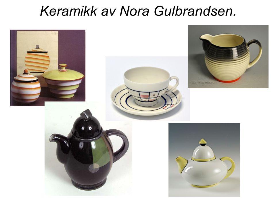 Keramikk av Nora Gulbrandsen.